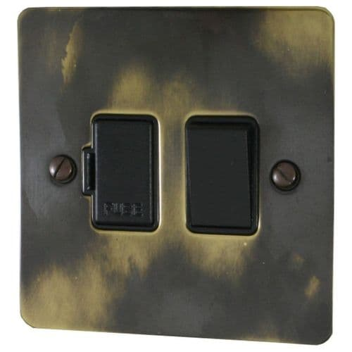 G&H FAN57B Flat Plate Polished Aged Brass 1 Gang Fused Spur 13A Switched